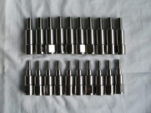 Titanium posts for Moss Metal Finishing