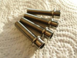 Titanium M6 socket cap bolts