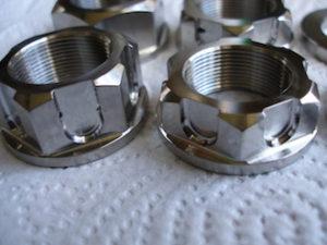 Titanium R1 drive sprocket nuts, sexy bits