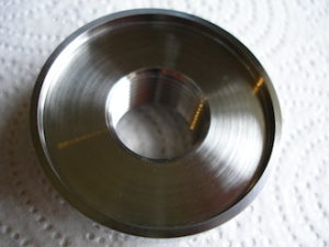Kawasaki titanium clutch nut underside