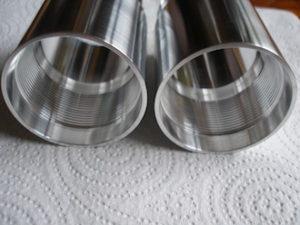 7075 alloy Ohlins fork extension internal thread