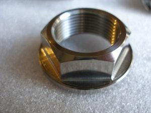 Titanium GSXR rear axle nut