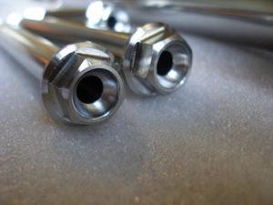 Titanium GSXR suspension bolt heads