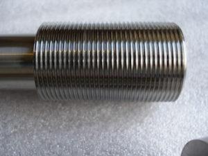 Titanium GSXR swinging arm axle head thread