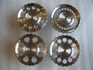 6082 alloy BSA Goldstar steering damper knobs