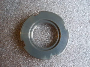 Aprilia RS250 7075 alloy steering head stem collar nut