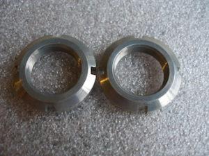 Aprilia RS250 7075 alloy swinging arm frame insert collar nut