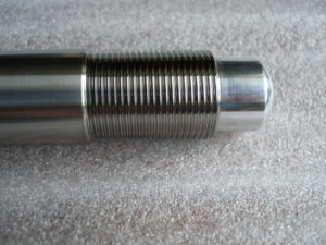 Titanium Suzuki GSXR rear wheel spindle thread