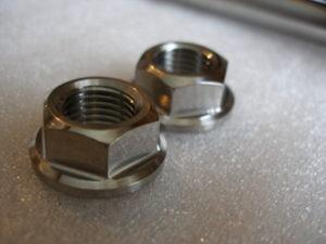 Montessa titanium swinging arm axle nuts