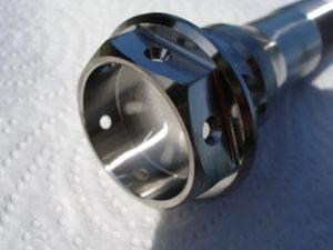 Titanium Yamaha R1 oil cooler bolt head